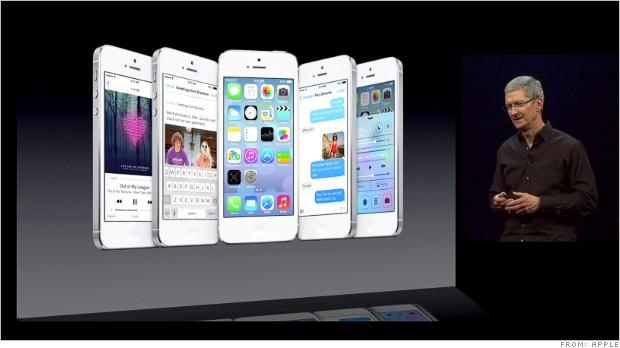 Apple iOS7 view